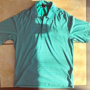 Nike Golf Men's Lrg Green/White Shirt Dri-Fit UV